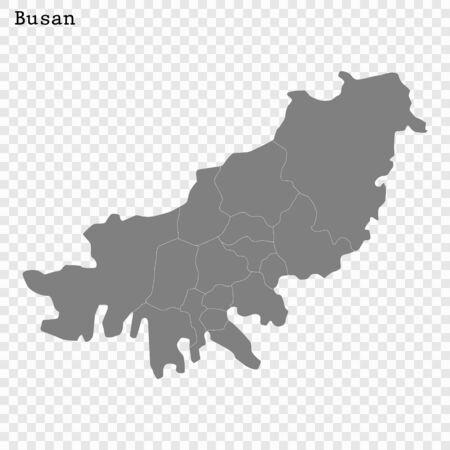 High quality Map Busan City. vector illustration
