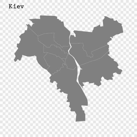 High quality Map Kiev City. vector illustration