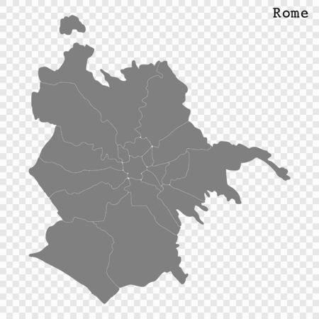 High quality Map Rome City. vector illustration