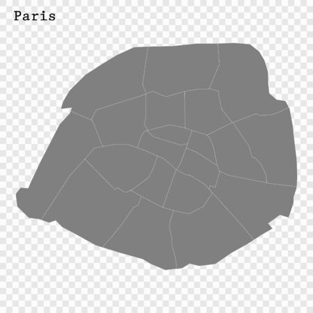 High quality Map Paris City. vector illustration