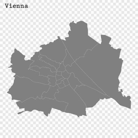 High quality Map Vienna City. vector illustration