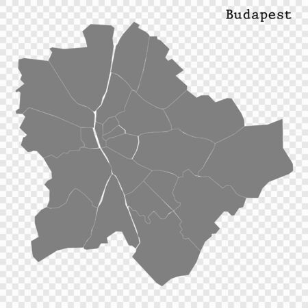 High quality Map Budapest City. vector illustration Иллюстрация