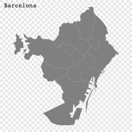High quality Map Barcelona City. vector illustration Ilustracja