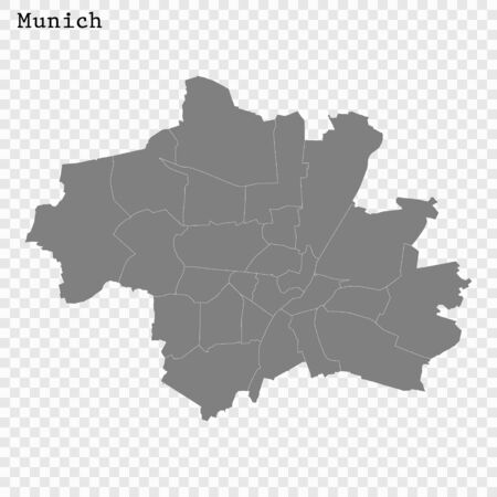 High quality Map Munich City. vector illustration
