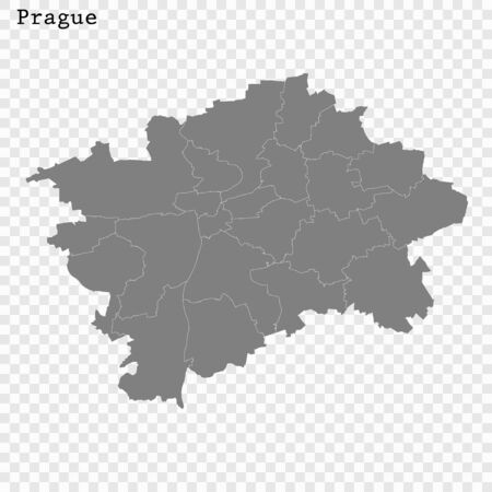 High quality Map Prague City. vector illustration