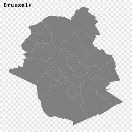 High quality Map Brusels City. vector illustration