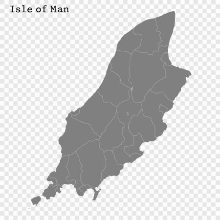 High quality Map Isle of Man. vector illustration