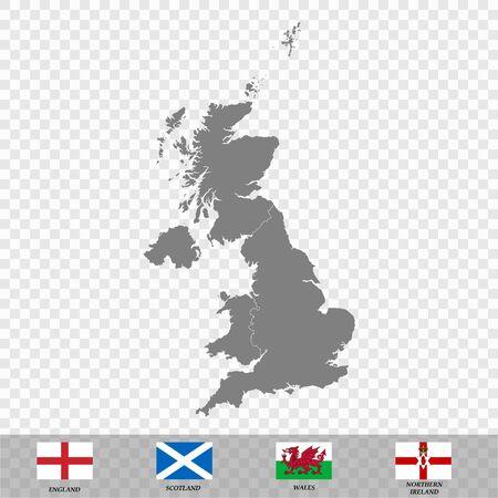 High quality Map United Kingdom. vector illustration Иллюстрация