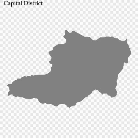 High Quality map of Capital District is a state of Venezuela, with borders of the municipalities