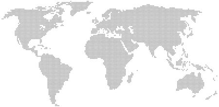 Dotted world map. Vector illustration . Template for your design