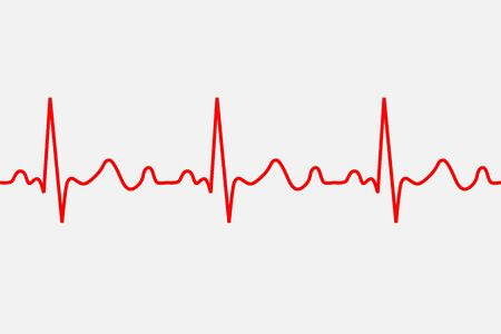 Herzschlag-Symbol. EKG-Pathologie-Spur, Vektorillustration