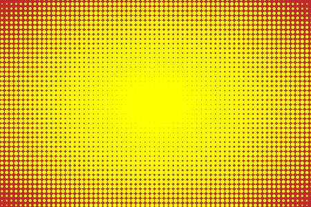 Abstract vector comics pop art style template,yellow and red halftone background