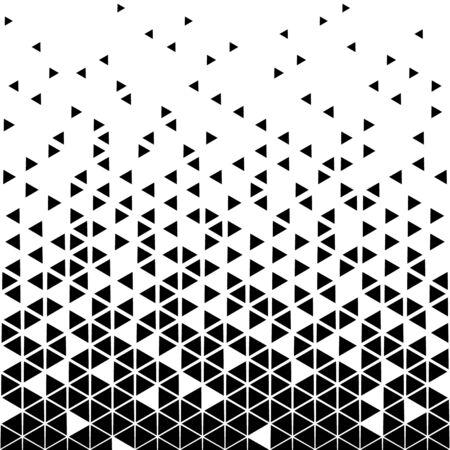 Motif de triangle de demi-teinte imprimé graphique noir et blanc géométrique abstrait