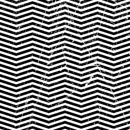 vector seamless pattern on abstract grunge wave. geometric lines texture for greeting card. Old style vintage design. Graphic illustration. Ilustrace