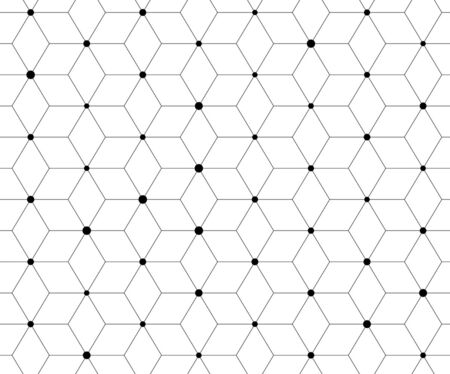 Abstract geometric pattern with lines, rhombuses A seamless vector background Stock Illustratie