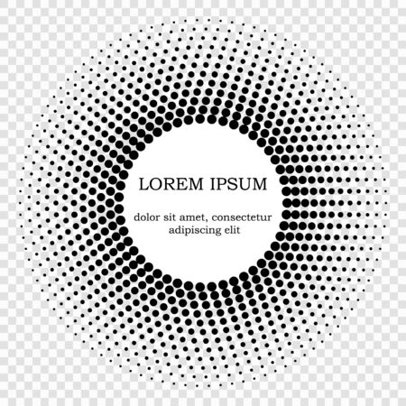abstract circle halftone dots frame . Template for your design Stock Vector - 129882870