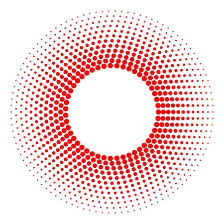 abstract circle halftone dots frame . Template for your design