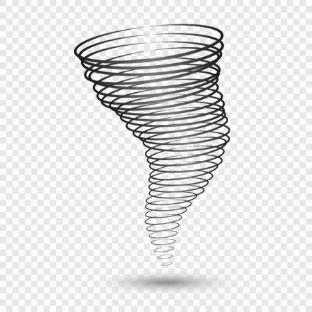 Tornado vector illustrations. Weather conditions symbols - natural disaster, hurricane wind, storm Иллюстрация