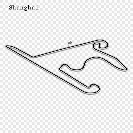 China grand prix race track. circuit for motorsport and autosport. Vector illustration.