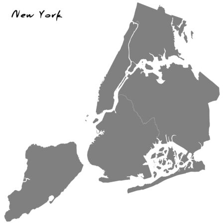 New York High quality map. Vector illustration Иллюстрация