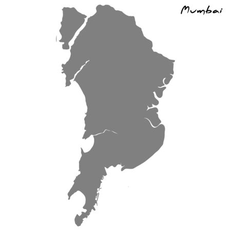 High quality map of Mumbai. Vector illustration Ilustrace