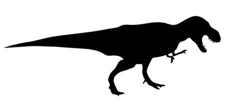 Dinosaur t-rex silhouette. Vector illustration isolated on white background