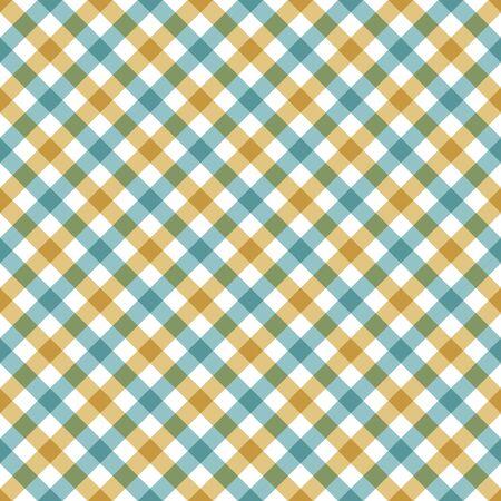 diagonal checkered plaid seamless pattern. Vector illustration