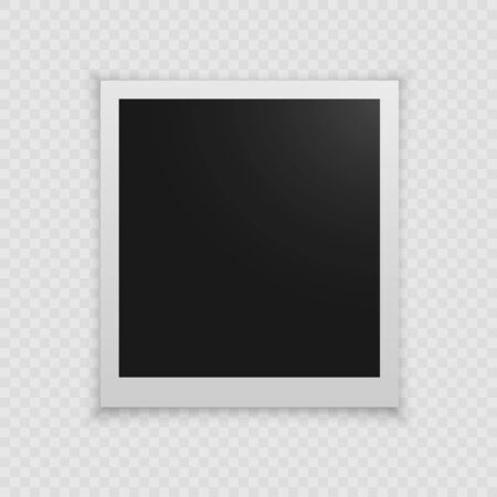Realistic vector photo frame. Template photo design. Vector illustration