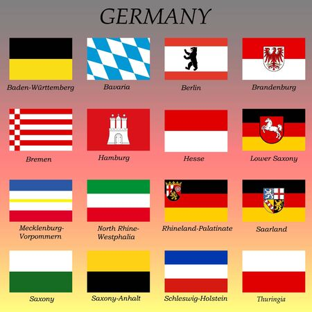 all flags of the German states. federal states of Germany