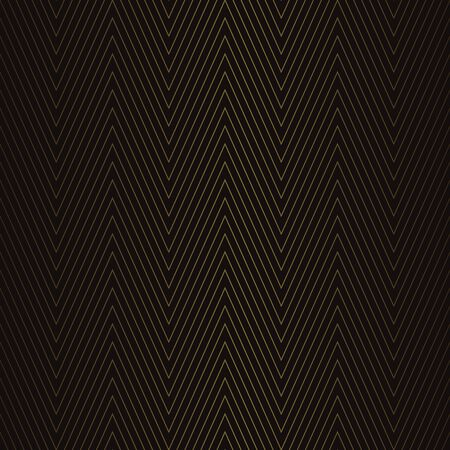 Golden vintage seamless pattern on black background. Vector illustration for retro design Фото со стока - 130095412