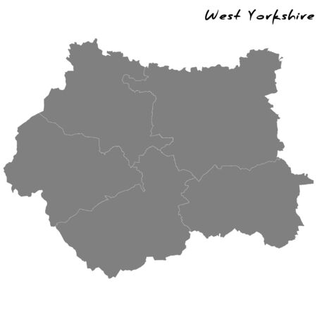 High Quality map of  is a metropolitan county of England, with borders of the counties