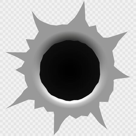 Trou de balle isolé. Illustration vectorielle. Modèle pour votre conception Vecteurs