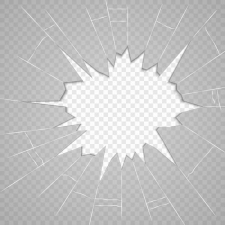Broken glass texture. Isolated realistic cracked glass effect, concept element Stock fotó - 130096158