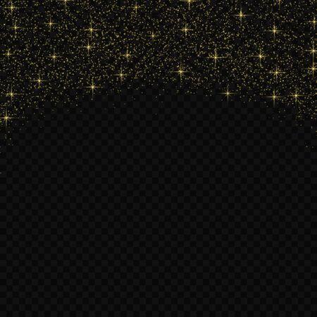 Vector gold glitter confetti pattern. Shine premium wallpaper for vip greeting card,