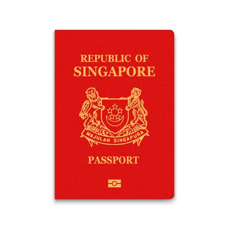 Passport of Singapore. Vector illustration Иллюстрация