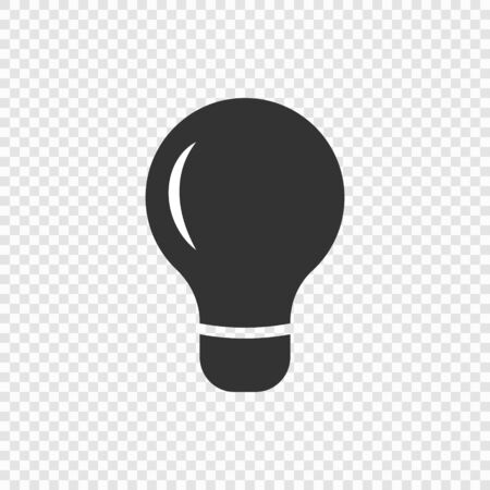 Light bulb lamp icon isolated