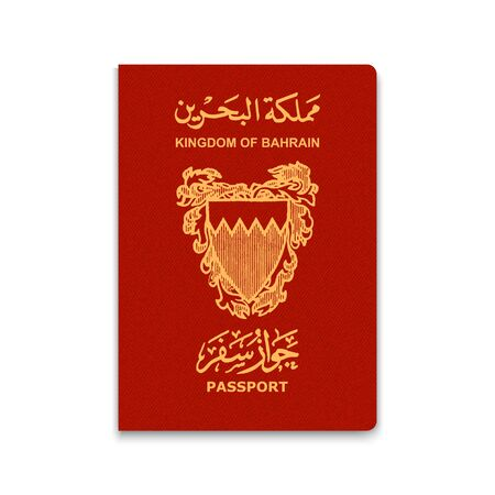 Passport of Bahrain. Vector illustration