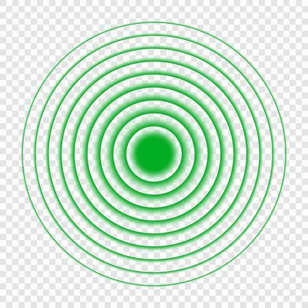 Sonar search sound wave icon. Radar icon