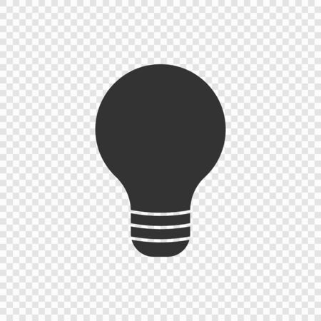 Light bulb lamp icon isolated . Template for your design Ilustracja