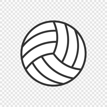 Volleyball ball icon icolated on transparent background, vector illustration