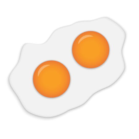 Realistic Fried Egg isolated on white background