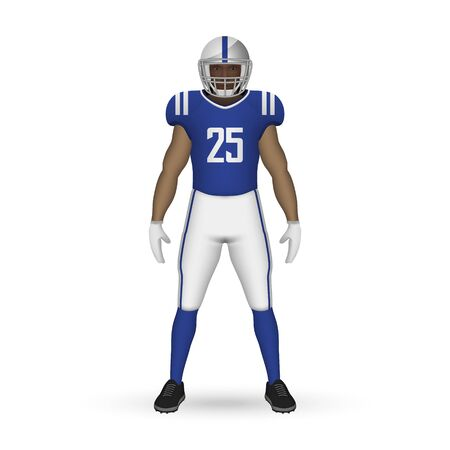 3D realistic American football player, Team Kit template design Indianapolis Colts