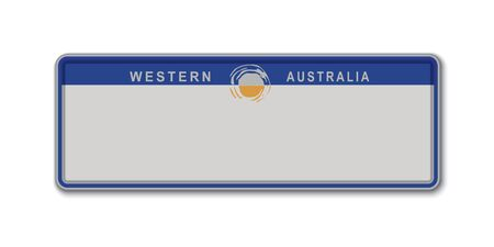Car number plate. Vehicle registration license of Western Australia State of Australia Stock Illustratie