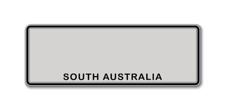 Car number plate. Vehicle registration license of South Australia State of Australia
