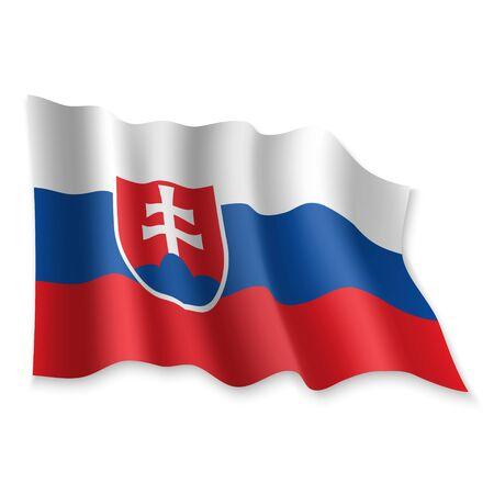 3D Realistic waving Flag of on white background Standard-Bild - 132559900