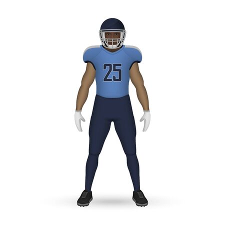3D realistic American football player, Team Kit template design Tennessee Titans
