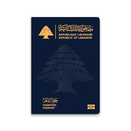 Passport of Lebanon. Vector illustration Illustration