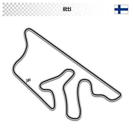 Iitti circuit for motorsport and autosport. Finnish grand prix race track.  イラスト・ベクター素材
