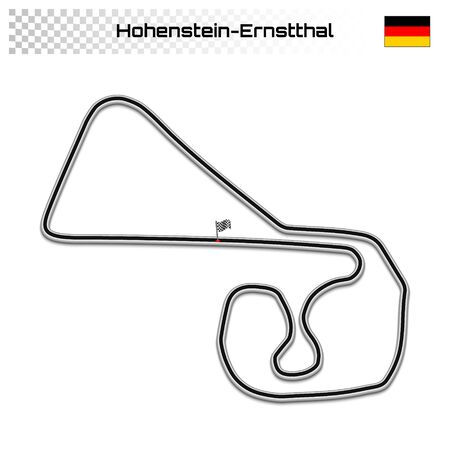 Hohenstein-Ernstthal circuit for motorsport and autosport. German grand prix race track. Foto de archivo - 134672116