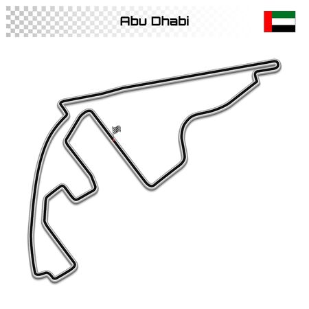 Abu Dhabi circuit for motorsport and autosport. Emirates grand prix race track. Foto de archivo - 134672278